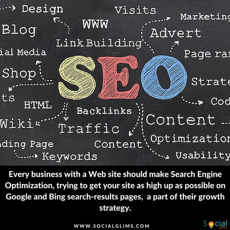 Every business with a Web site should make Search Engine Optimization — trying to get your