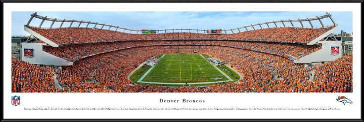 Denver Broncos Panoramic Picture Framed - Sports Authority Field at Mile High Stadium Panorama