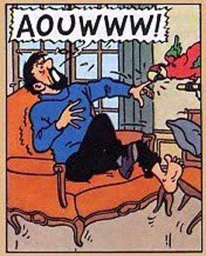 Tintin // good old Iago!