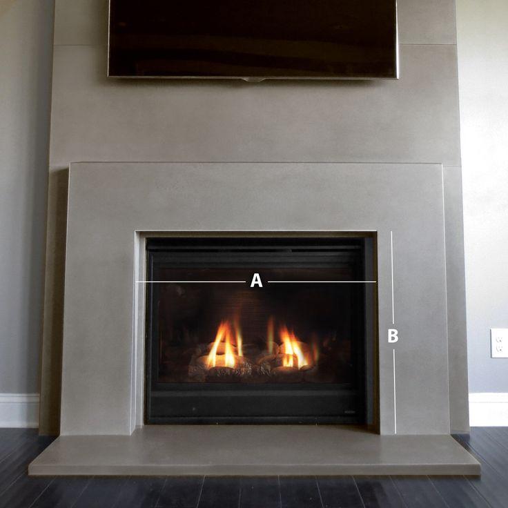 Plane Concrete Fireplace Surround - Trueform Concrete                                                                                                                                                                                 More