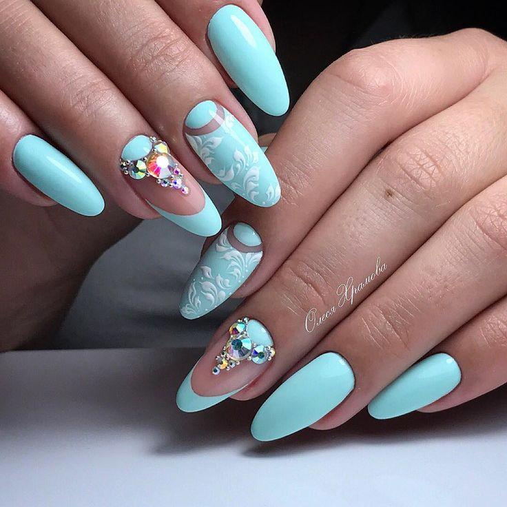 nail art design ideas | almond shape nails | nail art ideas for summer | nail art