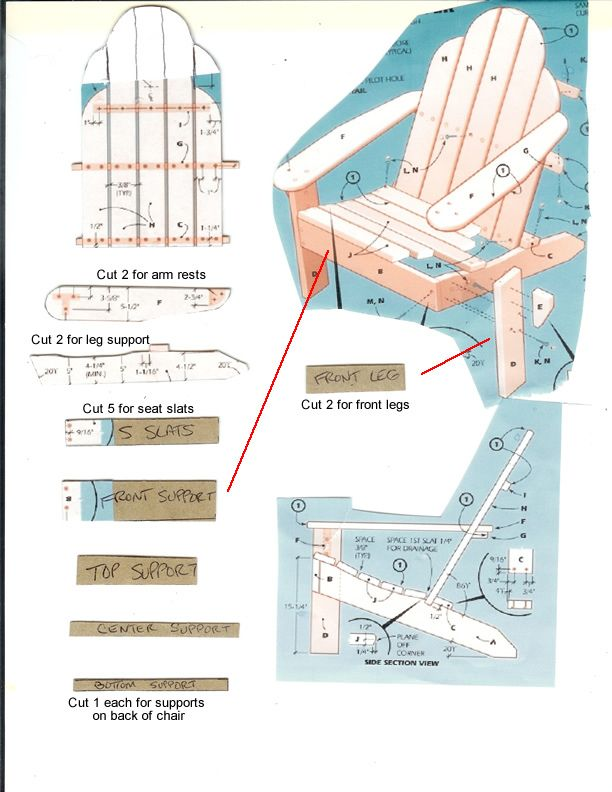 Gumpaste Adirondack Chair Template WoodWorking Projects