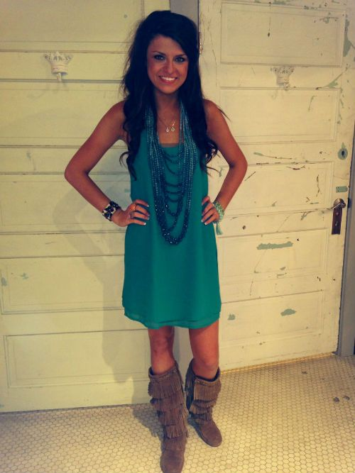 1000  images about Cowgirl boots and Dresses on Pinterest | Cute ...