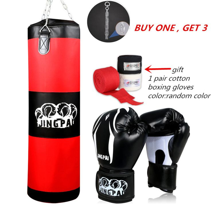 Army Green Red Empty Kick Boxing Bag Training Fitness Punching Bag Saco De Boxeo Hook Hanging MMA Fight Sandbag(empty) gloves