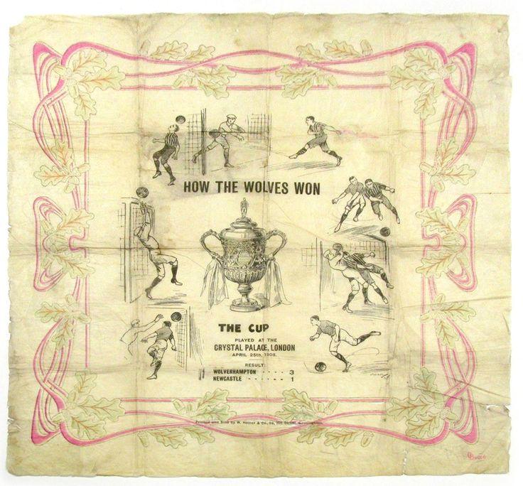 Wolves v Newcastle 1908 FA Cup Final Souvenir Paper napkin