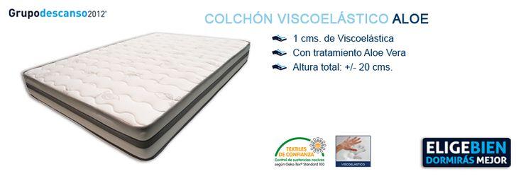 Colchón Viscoelástico ALOE - http://colchonesvisco.net/colchones/colchones-viscoelasticos/colchon-viscoelastico-aloe/