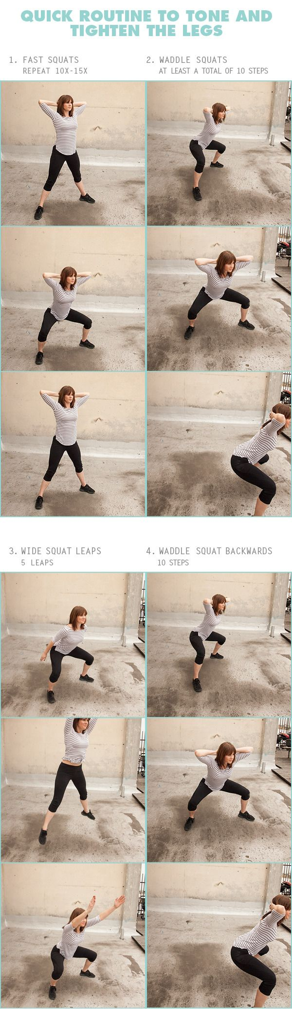 Quick Routine to Tone and Tighten the Legs