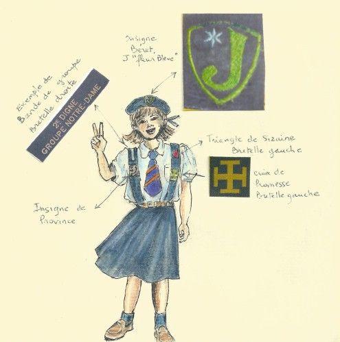 Localisation du patch uniforme des scouts louveteaux