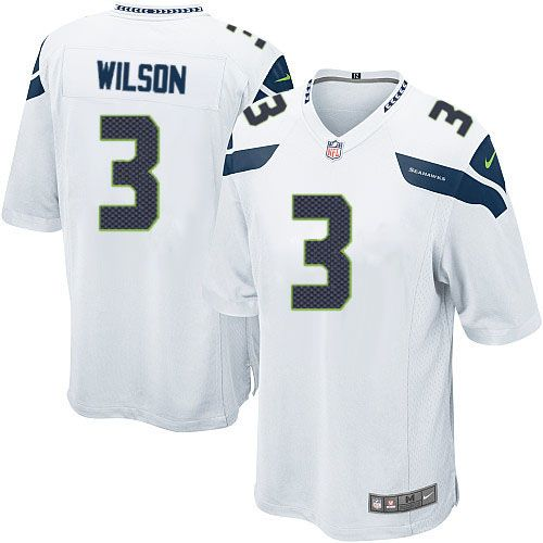 Order a new Game Men's Nike Seattle Seahawks #3 Russell Wilson White NFL Jersey this season. We are the #1 source for Game Men's Nike Seattle Seahawks #3 Russell Wilson White NFL Jersey Size: S M L XXL XXXL 46 48 50 52 54 56 58, where 3-Day shipping on any size order is free shipping.  $79.99