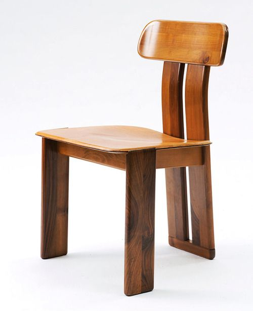 Afra and Tobia Scarpa; Side Chair for Maxalto, 1975.