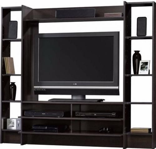 Entertainment Media Center TV Stand Console Storage Flat Panel Home Theater New #EntertainmentMediaCenter