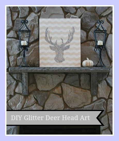 DIY Glitter Deer Head Art - www.11magnolialane.com