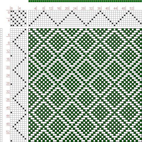 Image result for Hand Weaving Draft: Plate 41, Figure 24, Dictionary of Weaves Part I by E.A. Posselt, 8S, 8T - Handweaving.net Hand Weaving and Draft Archive ...