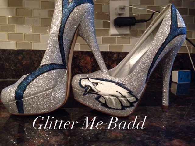 099dca30c37 Philadelphia Eagles heels by Glitter Me Badd  EAGLES