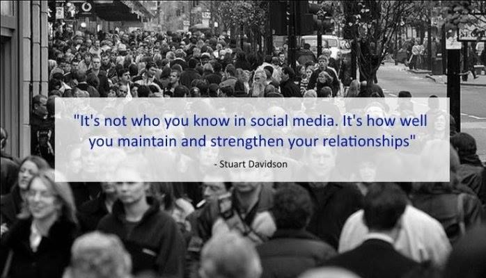 Maintain and strengthen your relationship ever by @stuartdavidson #socialmedia #social #socialmediatips #quotes #seo #webmarketing
