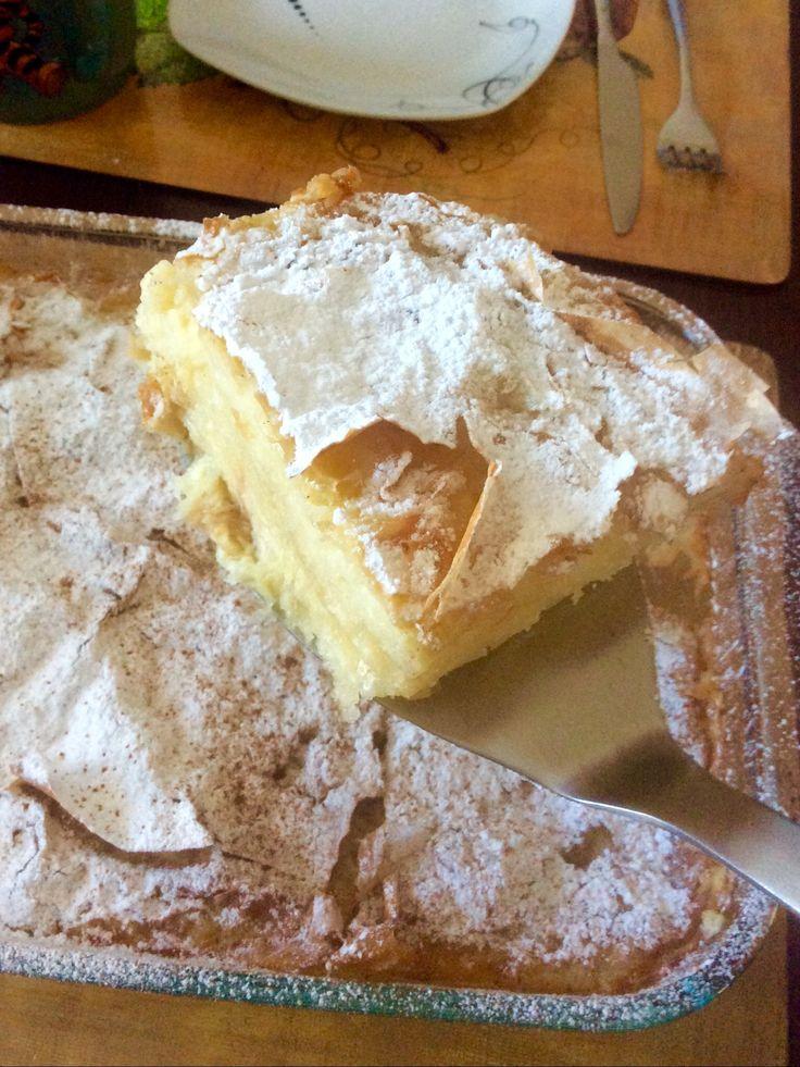 #Bougatsa - a Greek Custard Filo Pie