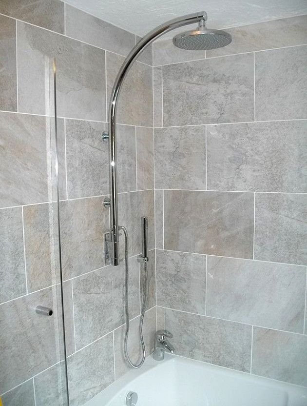 Bathroom Showers Over Bath Shower Prior To Installation Of The