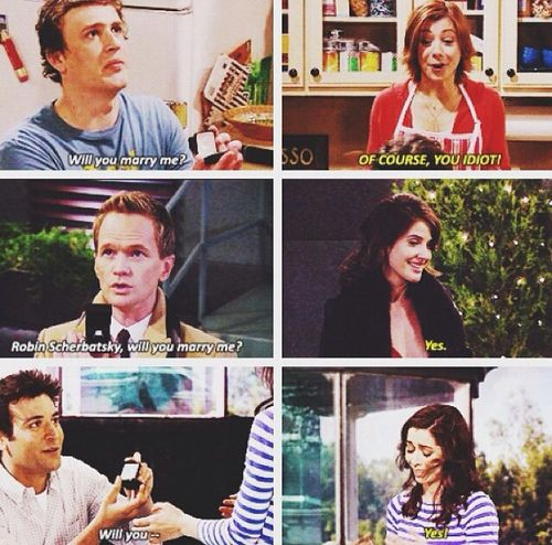 Will you marry me? #HIMYM