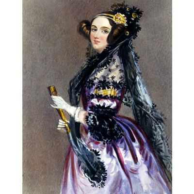 Ada Lovelace, c. 1838 - world's first computer programmer.