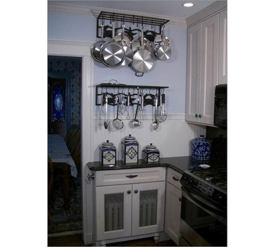 Wall Mounted Pot Rack (minus Shelf) Two Layers Tall