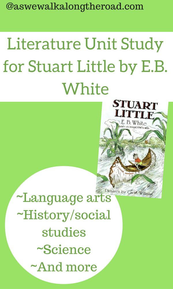 This literature unit study for Stuart Little includes activities for language arts, social studies, science, and more.