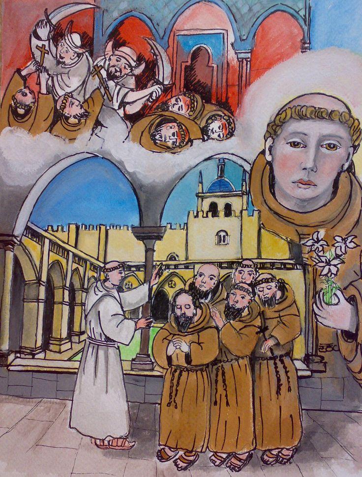 L'incontro casuale con cinque francescani cambia provvidenzialmente la vita di Antonio