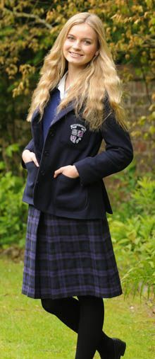 "Samantha Davidson, 15, of Dullatur, is a fourth-year pupil at Glasgow Academy. She loves her knee-length school skirt and cannot imagine wearing anything shorter. She said: ""My skirt sits on my knee and I think it is just the right length. Any shorter would be inappropriate and you would have to spend all your time pulling it down. School is for learning, it is not a fashion show.  ""Our school has a really strict policy on uniforms."