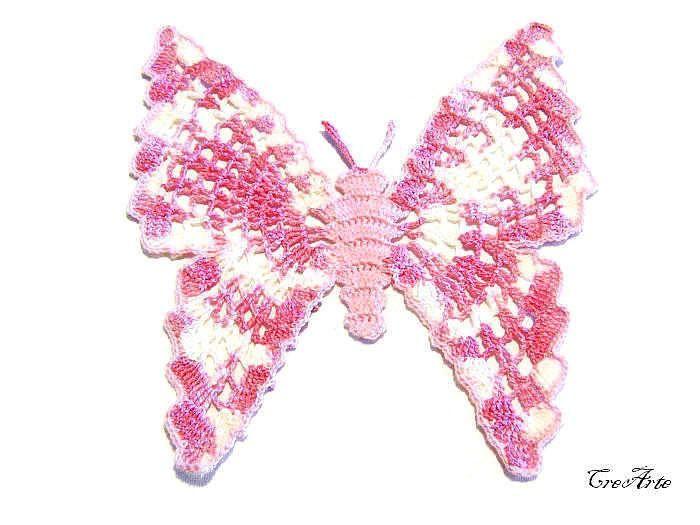 Pink crochet doily