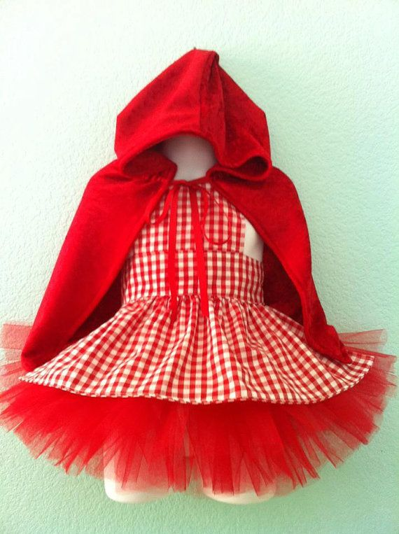 Little Red Riding Hood Tutu Costume by Littlewhimsywears on Etsy, $59.00