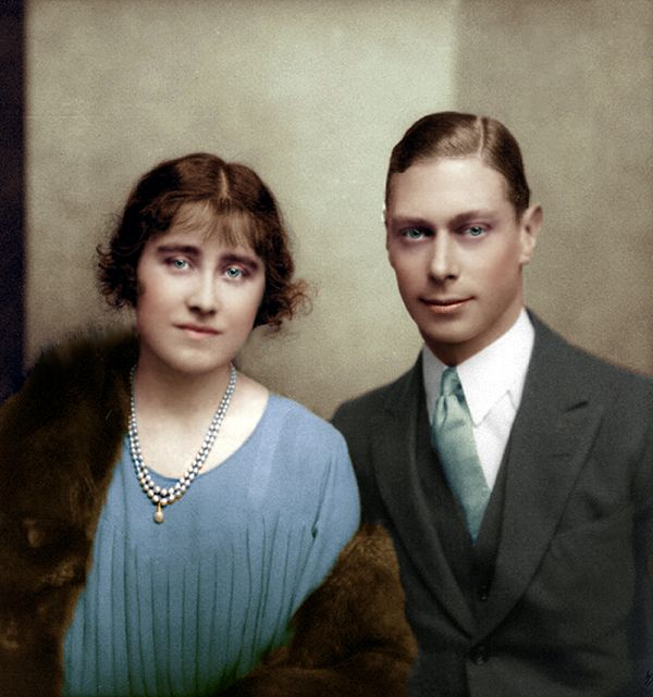 Prince Albert Duke of York (later George VI) and Lady Elizabeth Bowes Lyon
