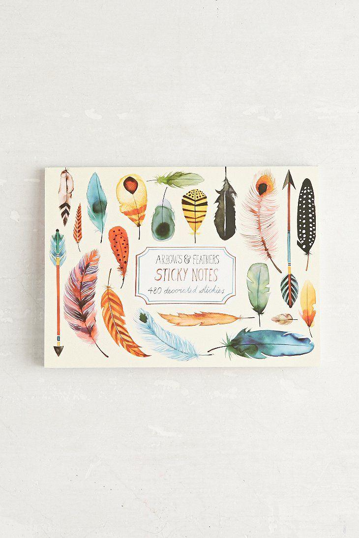Arrows & Feathers Sticky Note Set
