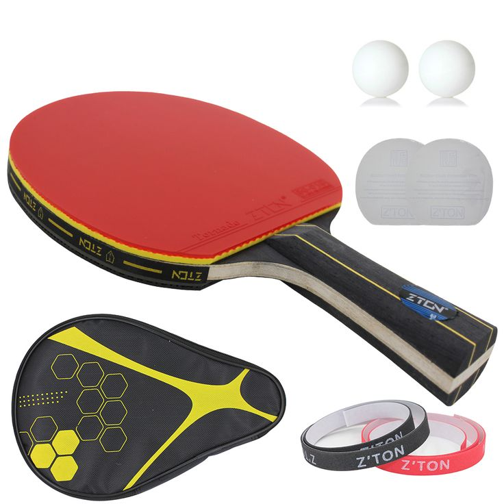 Brand Quality Table tennis racket Double pimples-in rubber Ping Pong Racket fast attack and loops or chop type player <3 Click the VISIT button to view the details