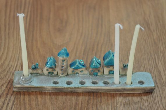 Hanukkah Menorah, Judaica, Hanukkah gift, Hanukkah Decoration, Jewish Candle holder, Jewish Menorah, Jewish Holidays Decor, Handmade Menorah on Etsy, 291.55 ₪