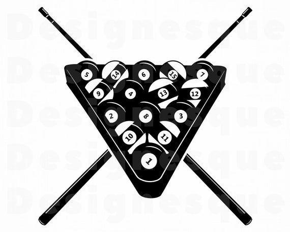 Billiards Svg 3 Snooker Svg Pool Billiards Clipart Etsy In 2021 Snooker Billiards Svg