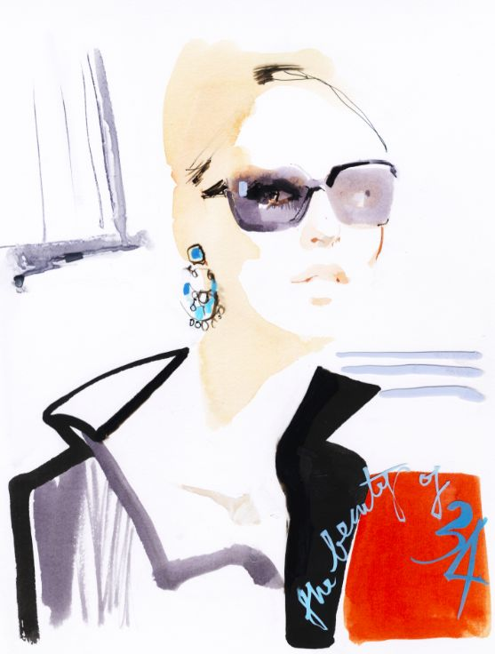 Illustration by David Downton                                                                                                                                                     More