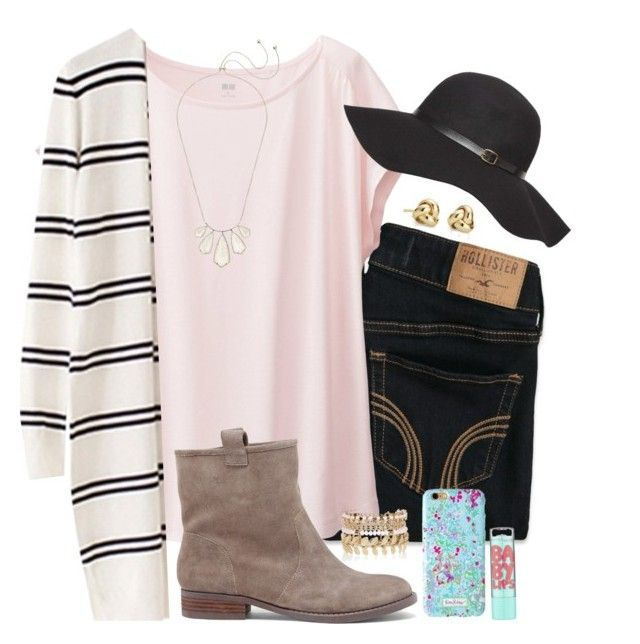 """""""comment someone who could pull this off :)"""" by madiweeksss ❤ liked on Polyvore featuring Hollister Co., Uniqlo, Sole Society, Blue Nile, Dorothy Perkins, Kendra Scott, Lilly Pulitzer, Maybelline and River Island"""