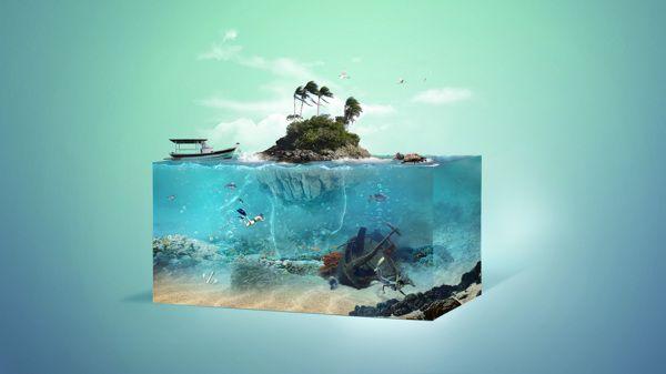 Aquarium by Fábio Araujo, via Behance