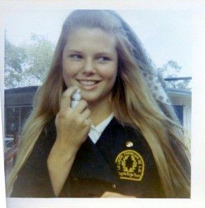 Christie Brinkley in high school 1972