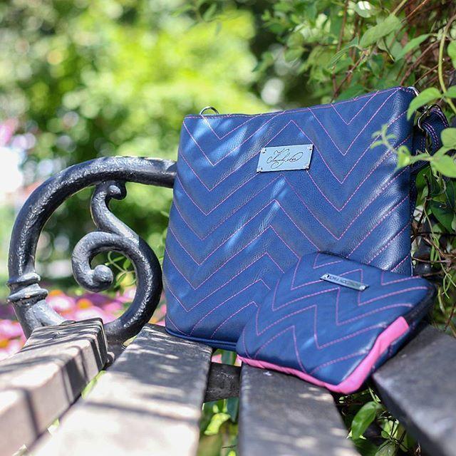 #norakocziszky #handmade #bag #unique #blue #pink