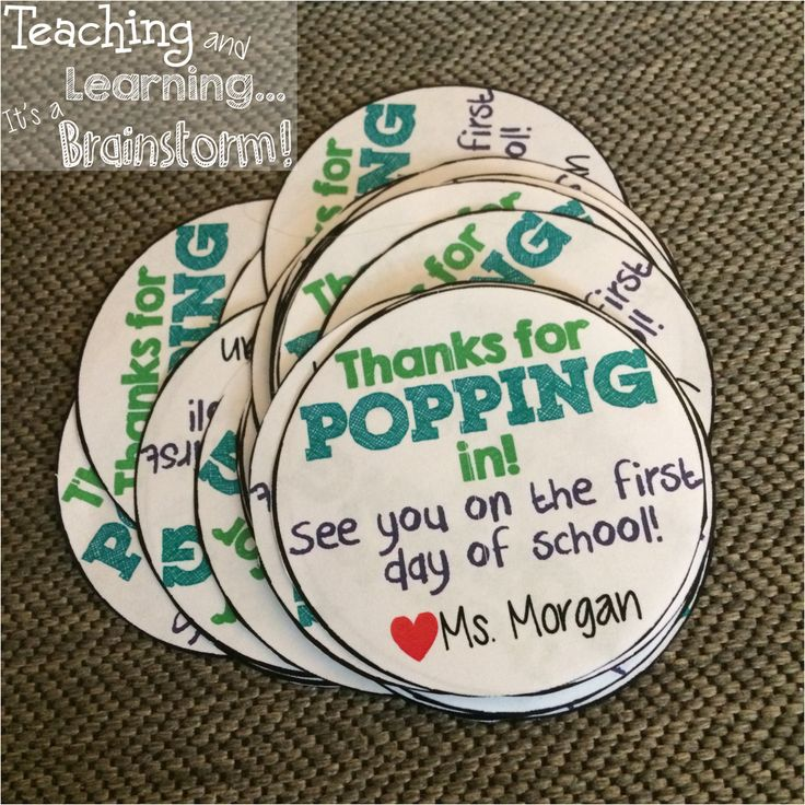 Back to School Open House Treat! Thanks for POPPING in label FREEBIE! Check out Teaching & Learning...It's a Brainstorm for your FREE EDITABLE DOWNLOAD! Personalize it with your own name! Please follow while your there! :)