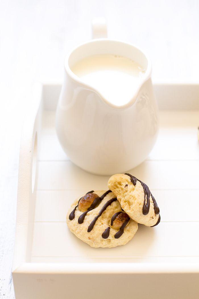 Galletas de conguitos de chocolate blanco Thermomix