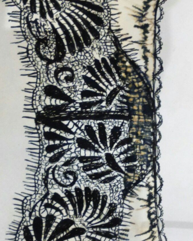 Ink and bleach lace study