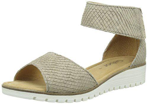 Gabor Shoes 44.570 Damen Knöchelriemchen Sandalen ,Beige (82 silk) ,35.5 EU - http://on-line-kaufen.de/gabor/35-5-eu-gabor-damen-sandalen-2