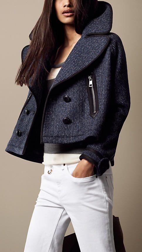 Pea coat corto oversize | Burberry