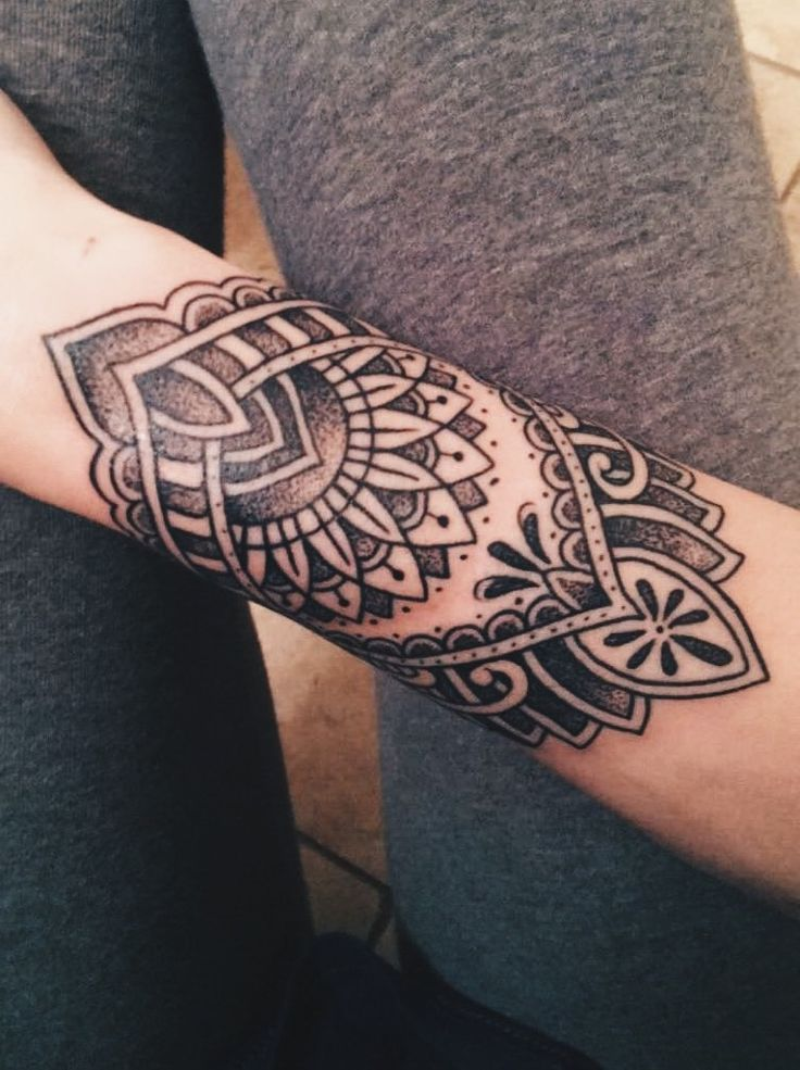 My new mandala arm cuff tattoo :) @Teige Grenko