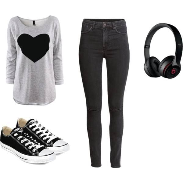 Shoes- Converse all star headset- Beats