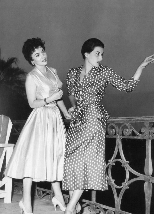 Gina Lollobrigida and Silvana Mangano photographed by Edward Quinn, 1955