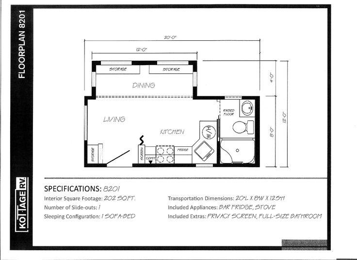 Kottage RV 202sqft 3 Small spaces Pinterest Rv and