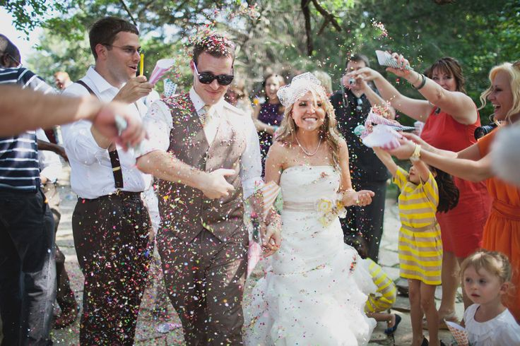Wedding Day Ideas: A Colorful April Fool's Day Wedding