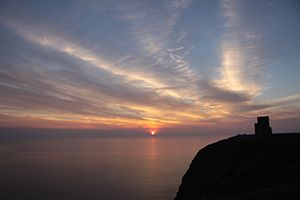 Beautiful sunset along Ireland's Wild Atlantic Way. Here are 5 special places to catch a Wild Atlantic Way sunset http://irelandways.com/5-special-places-catch-wild-atlantic-way-sunset